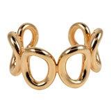 14kt Rose gold Circles Bangle Bracelet Cuff
