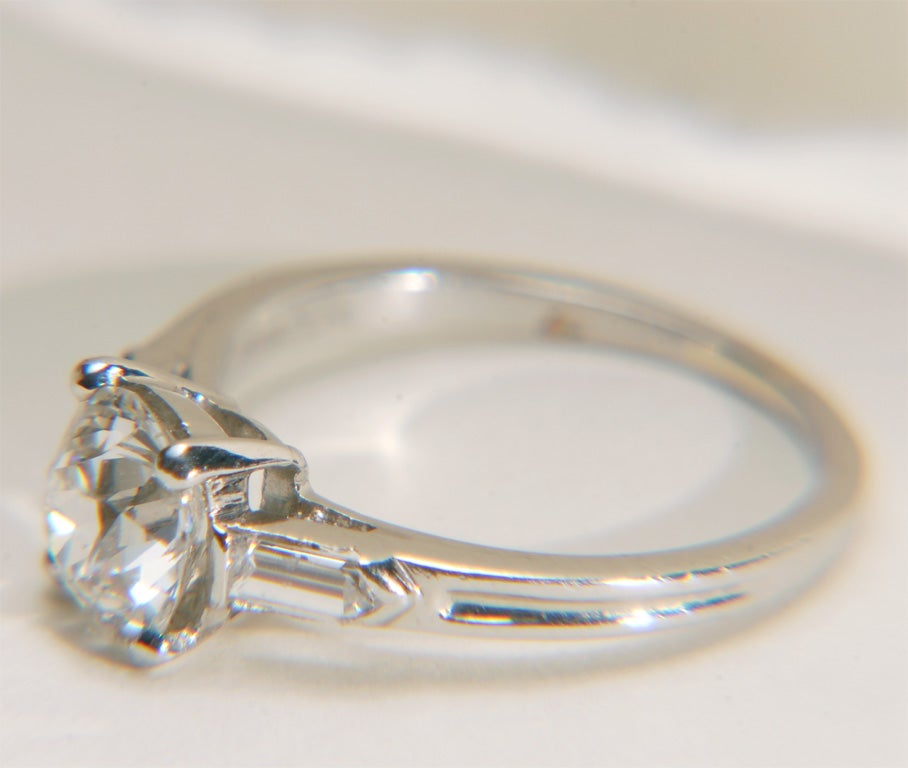 Tiffany And Co Art Deco Platinum And Diamond Engagement