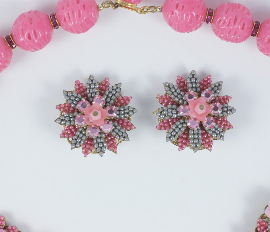 Stanley Hagler Beaded Necklace and Earrings 2