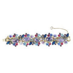 Juliana Rhinestone & Cabochon Bracelet, Costume Jewelry