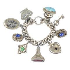 Silvertone Charm Bracelet