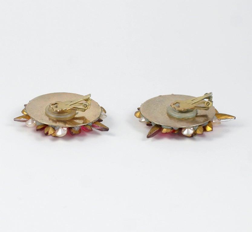 Pink Rhinestone Earrings 3
