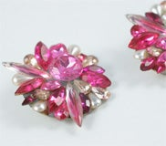 Pink Rhinestone Earrings thumbnail 6