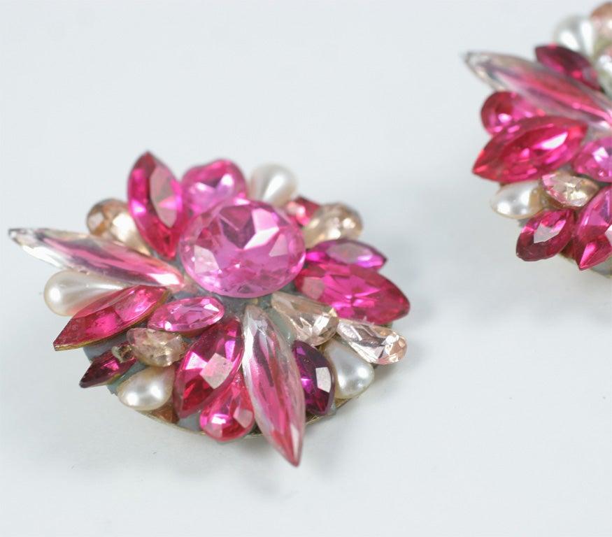 Pink Rhinestone Earrings 6