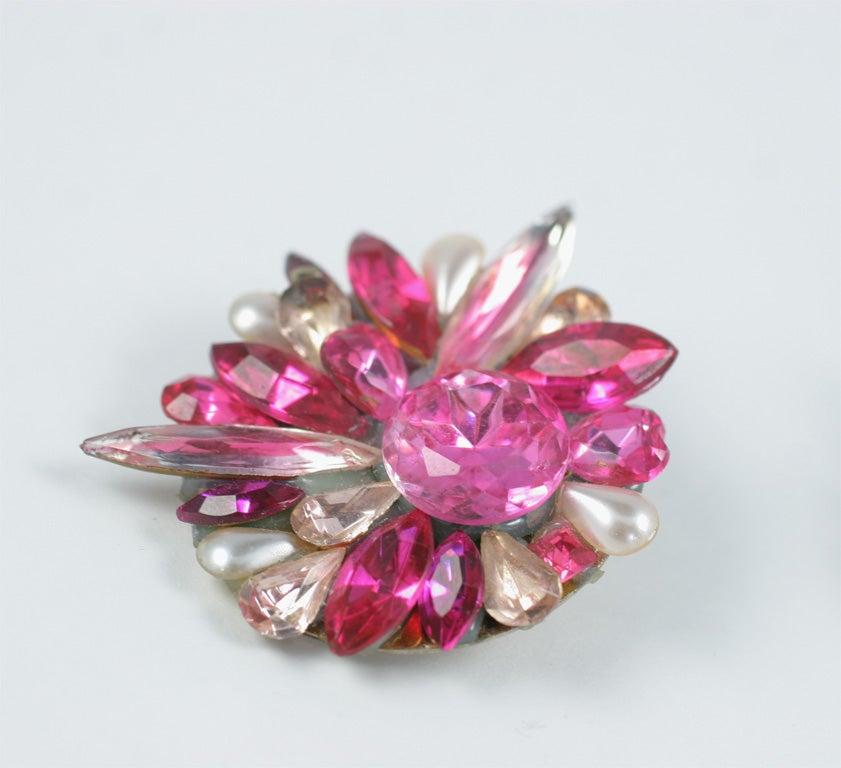 Pink Rhinestone Earrings 4
