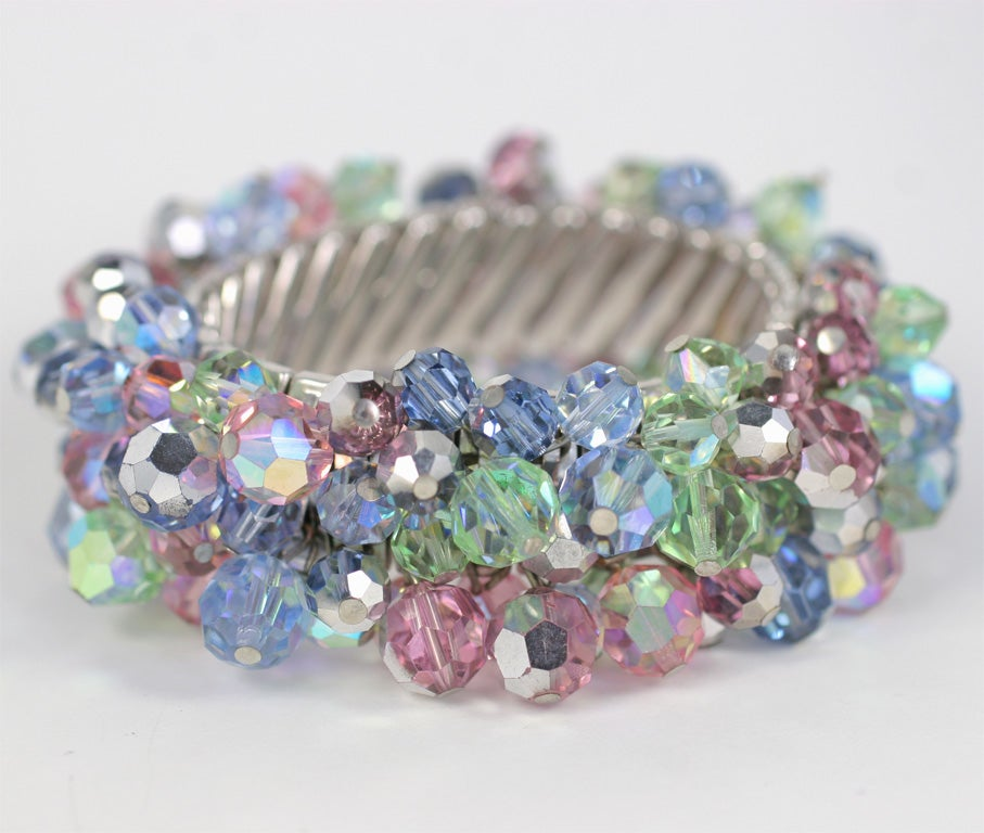Stretch Bracelet with Crystal Beads 3