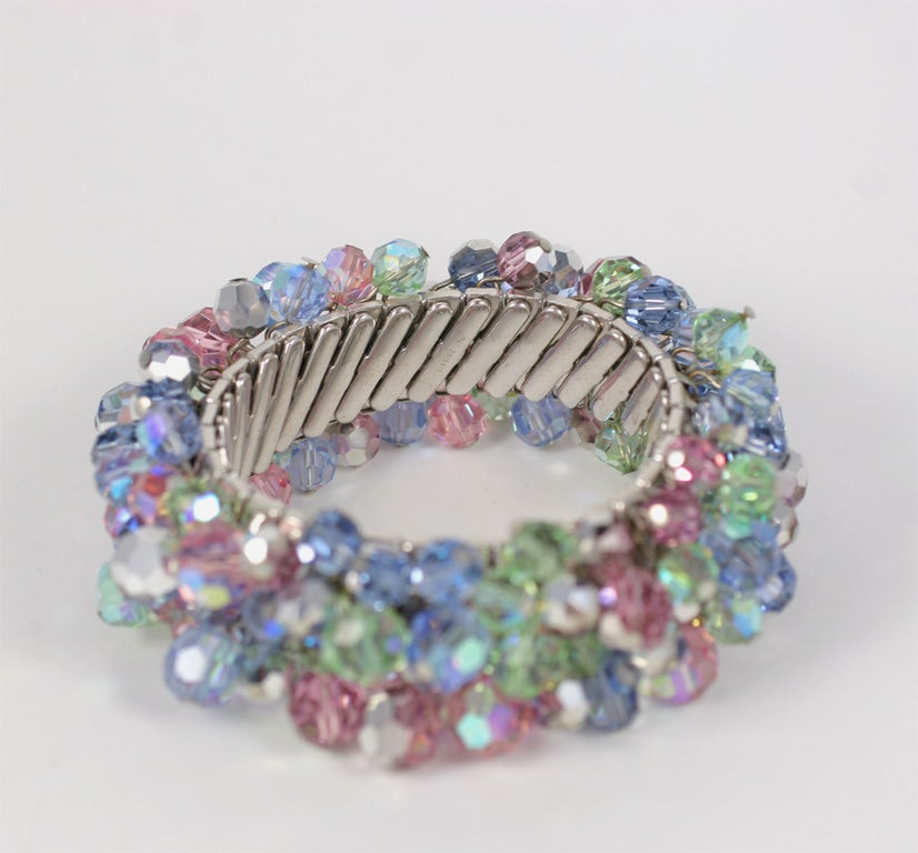 Stretch Bracelet with Crystal Beads 4