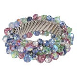 Stretch Bracelet with Crystal Beads