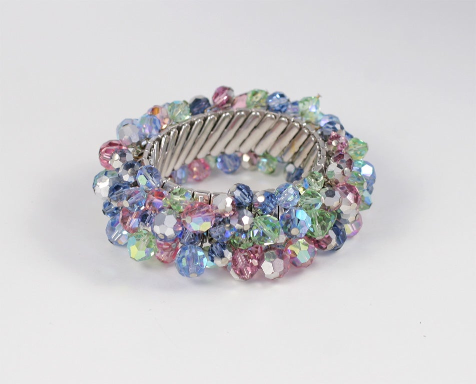 Stretch Bracelet with Crystal Beads 7
