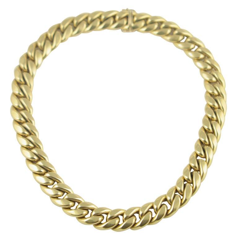 14k gold italian cuban links necklace at 1stdibs