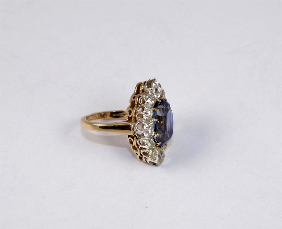Sapphire & Diamond Cocktail Ring 7