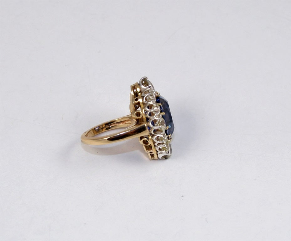 Sapphire & Diamond Cocktail Ring 3