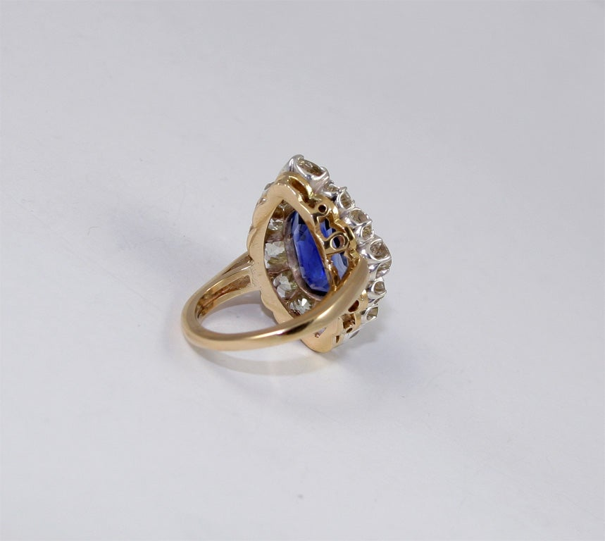 Sapphire & Diamond Cocktail Ring 4