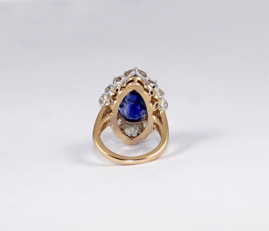 Sapphire & Diamond Cocktail Ring 5
