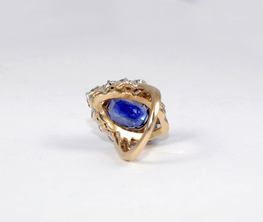 Sapphire & Diamond Cocktail Ring 6