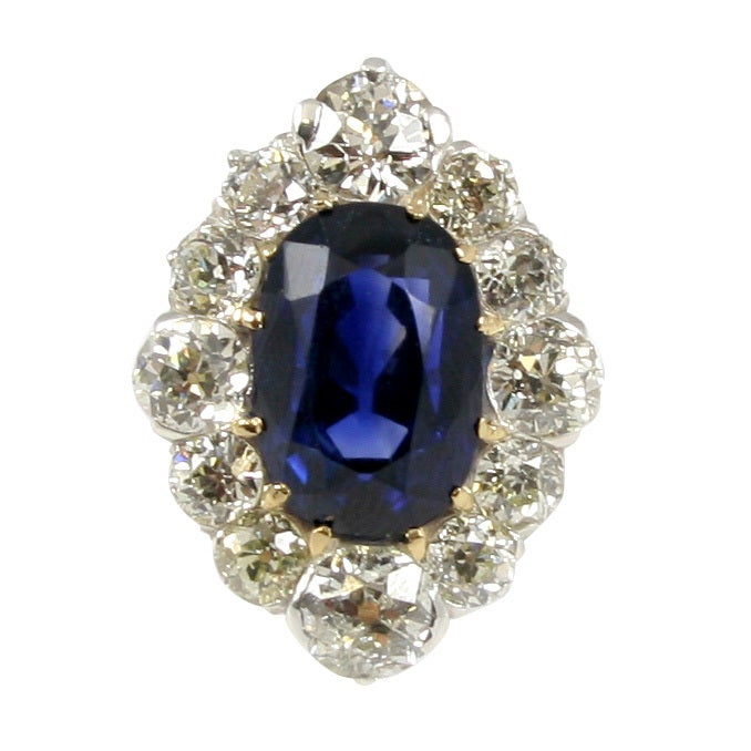 Sapphire & Diamond Cocktail Ring 1