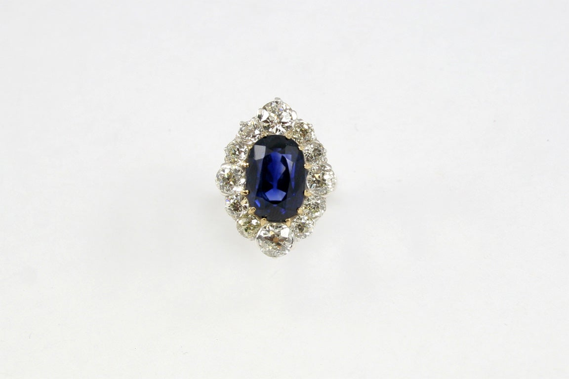 Sapphire & Diamond Cocktail Ring 2