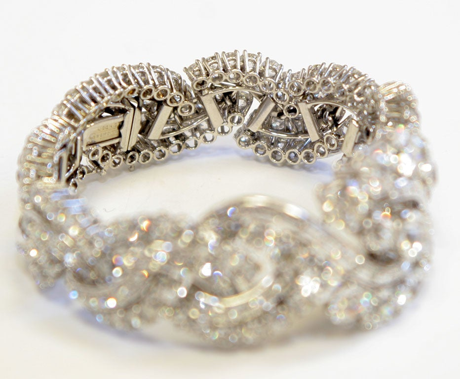 Spectacular Boucheron Platinum Diamond Bracelet For Sale 2