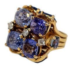 Ceylon Sapphire Ring by SEAMAN SCHEPPS
