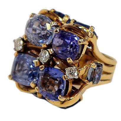 Ceylon Sapphire Ring by SEAMAN SCHEPPS 1