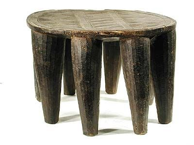 Antique Elephant Stool From The African Nupe Tribe 3