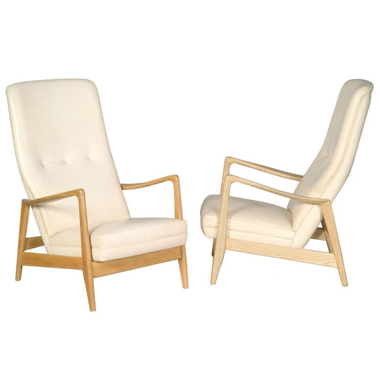 Italian Birchwood Easy Chair by Gio Ponti for Cassina, 1958 For Sale