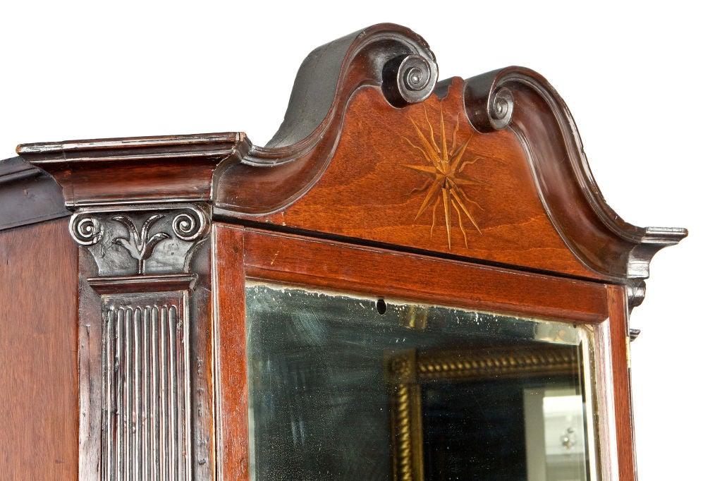 19th Century George IV Mahogany Bureau Bookcase For Sale