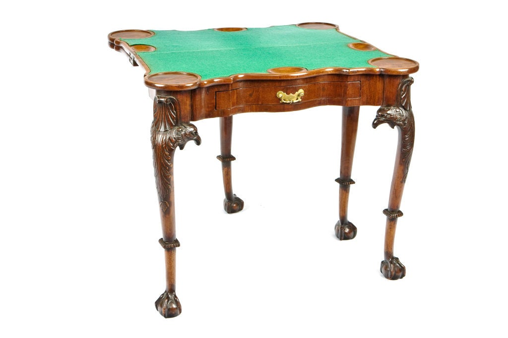 18th Century George II Irish Triple-Tier Mahogany Games and Tea Table For Sale 3