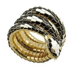 Bulgari Enamel Snake Bracelet Watch