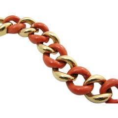 Seaman Schepps Coral Link Bracelet