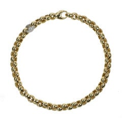 18kt gold and diamond heavy link necklace by Pomellato