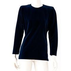 Yves St. Laurent Couture Midnight Blue Velvet Tunic