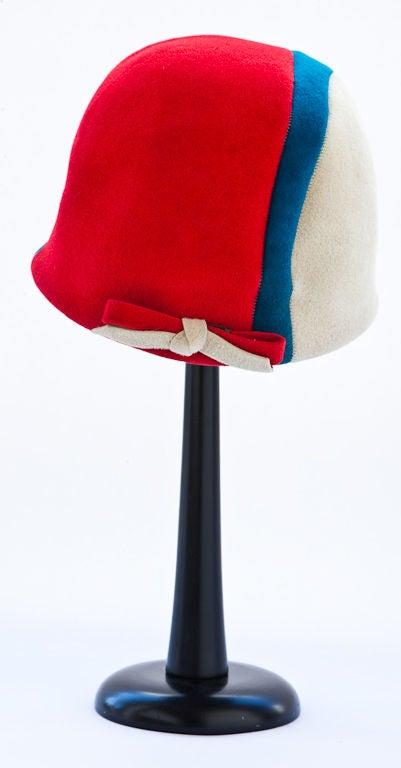 Tricolor graphic design  Jockey hat 2