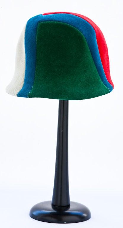 Tricolor graphic design  Jockey hat 1
