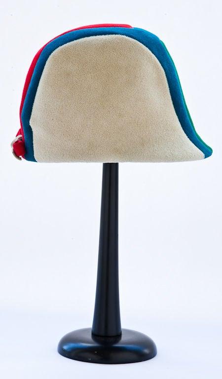 Women's Tricolor graphic design  Jockey hat