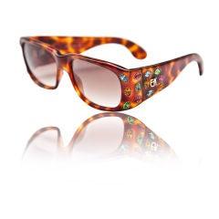 Emanuelle Kahn jeweled tortise framed sunglasses