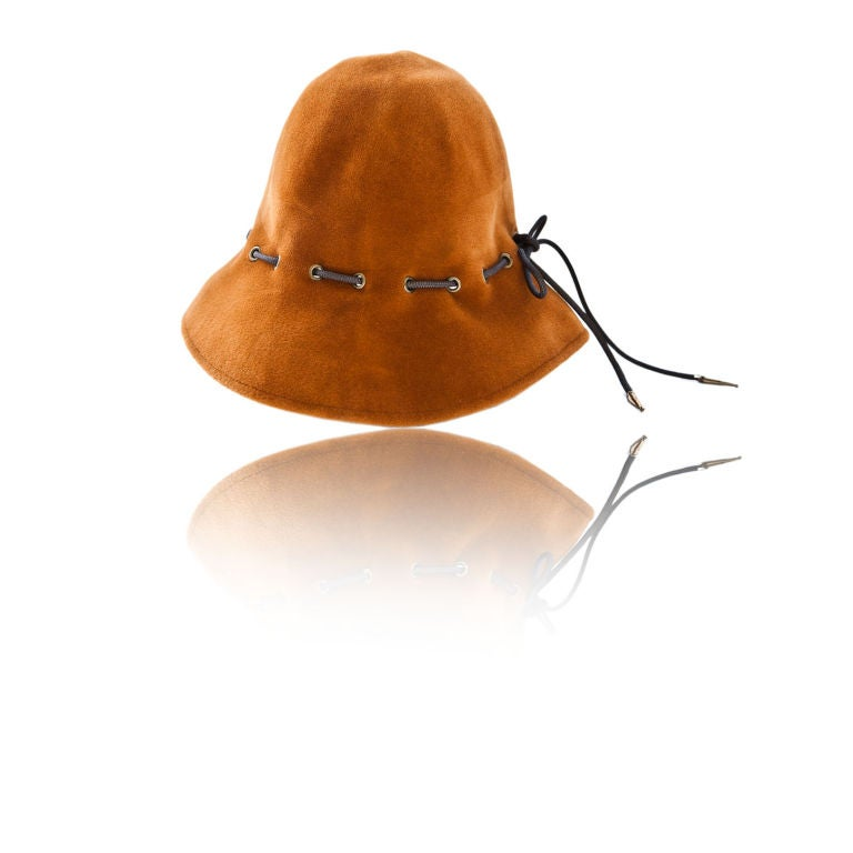 "Yves St. Laurent Ochre Colored ""Safari Collection"" Hat 1"