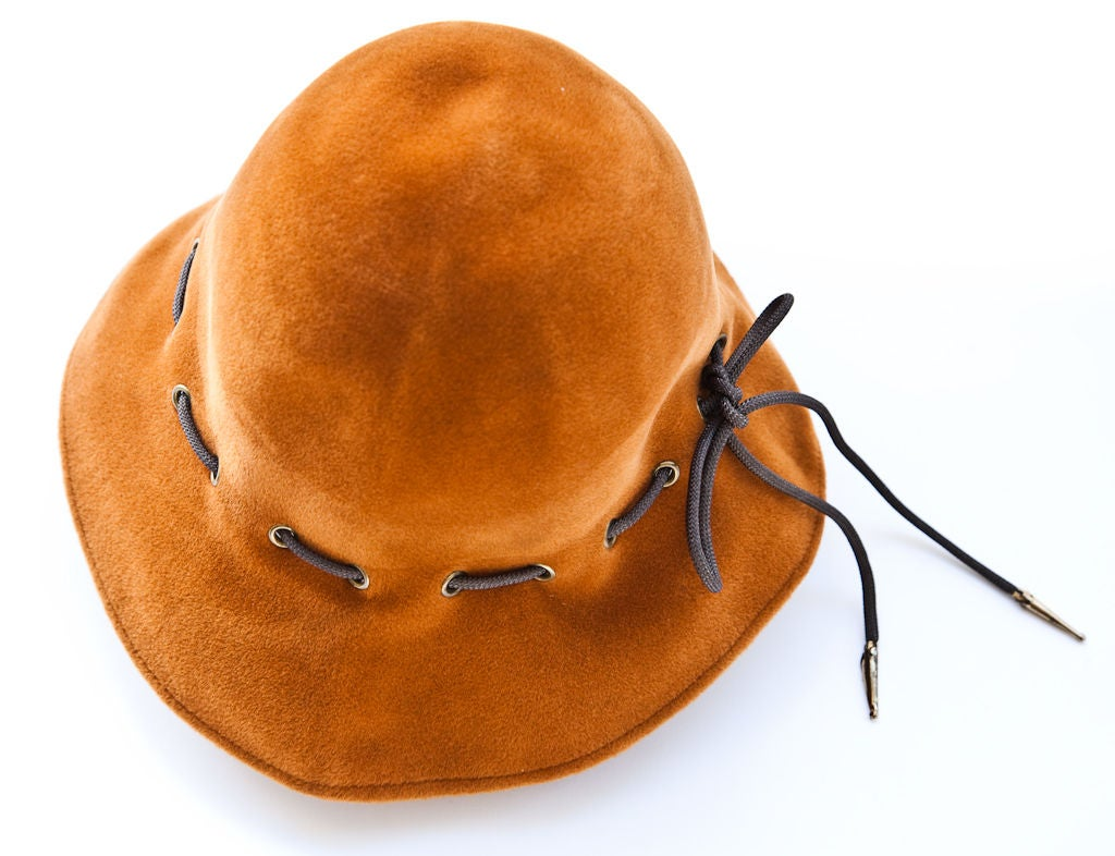 "Yves St. Laurent Ochre Colored ""Safari Collection"" Hat 3"