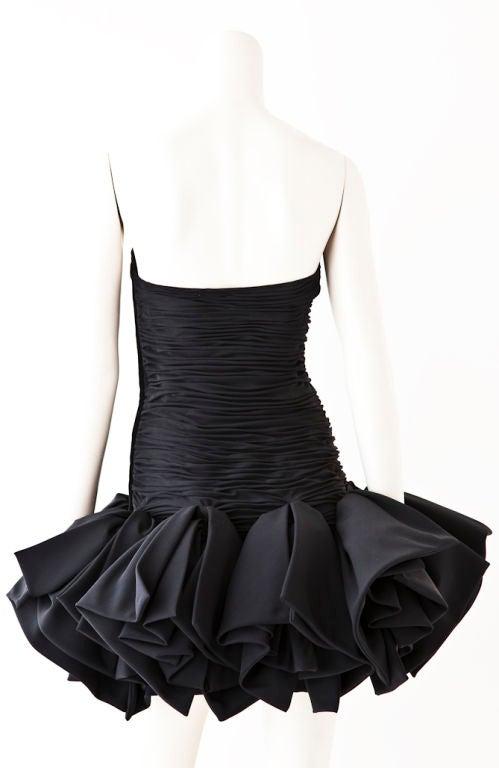 Ungaro black strapless ruched cocktail dress 3