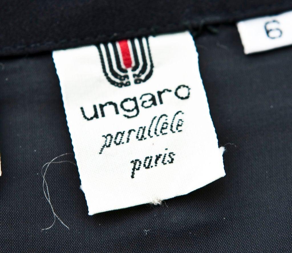 Ungaro black strapless ruched cocktail dress 4