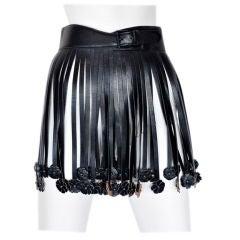 Alaia Leather Fringe Belt