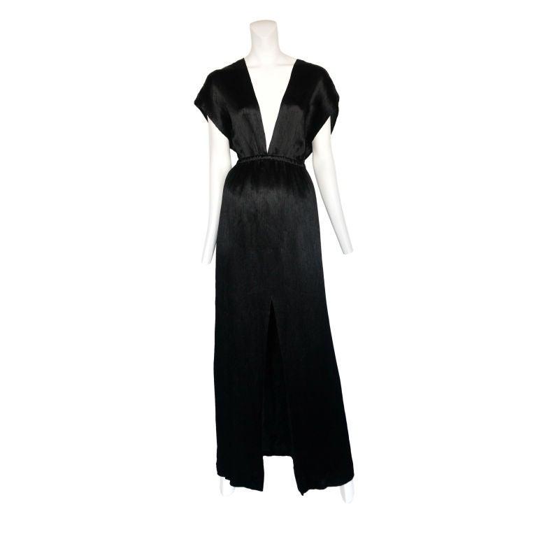 Halston Black Grecian Gown