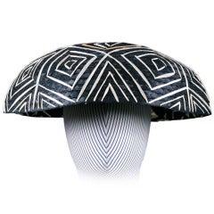 Italian Straw 1950's  Japonesque Resort Hat