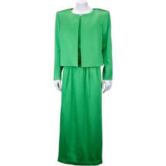 YSL Haute Couture Jade Green Suit