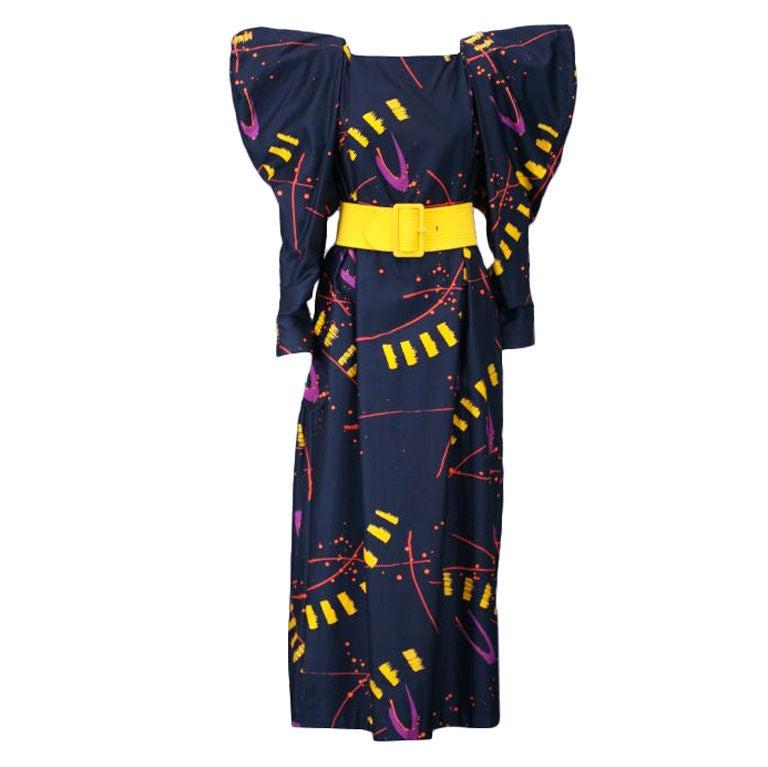 Marimekko Flange Shouldered Print Dress