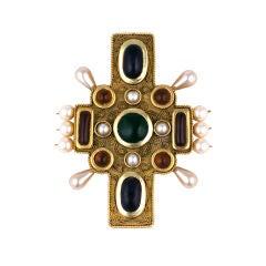 Chanel Byzantine Cross Brooch-Pendant