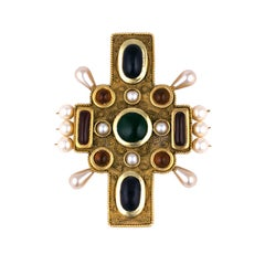 Chanel Byzantine Cross Brooch-Pendant