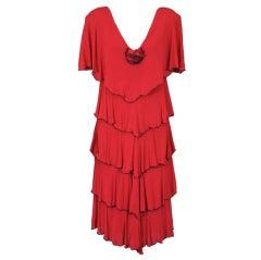 Holly Harp Matte Jersey Gestuftes Kleid