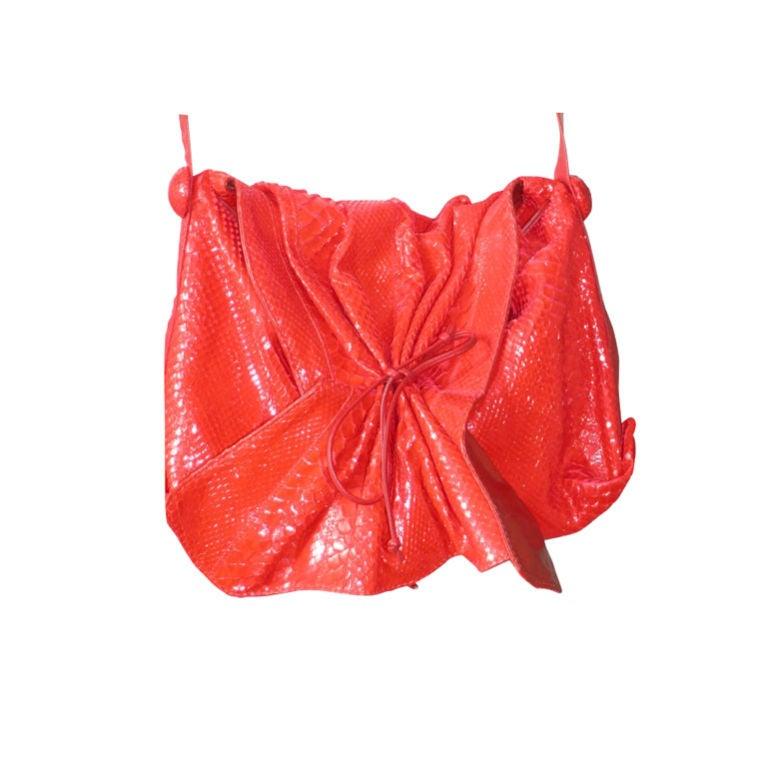 Carlos Falchi Snakeskin Bag 1