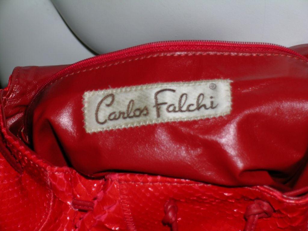 Carlos Falchi Snakeskin Bag 4
